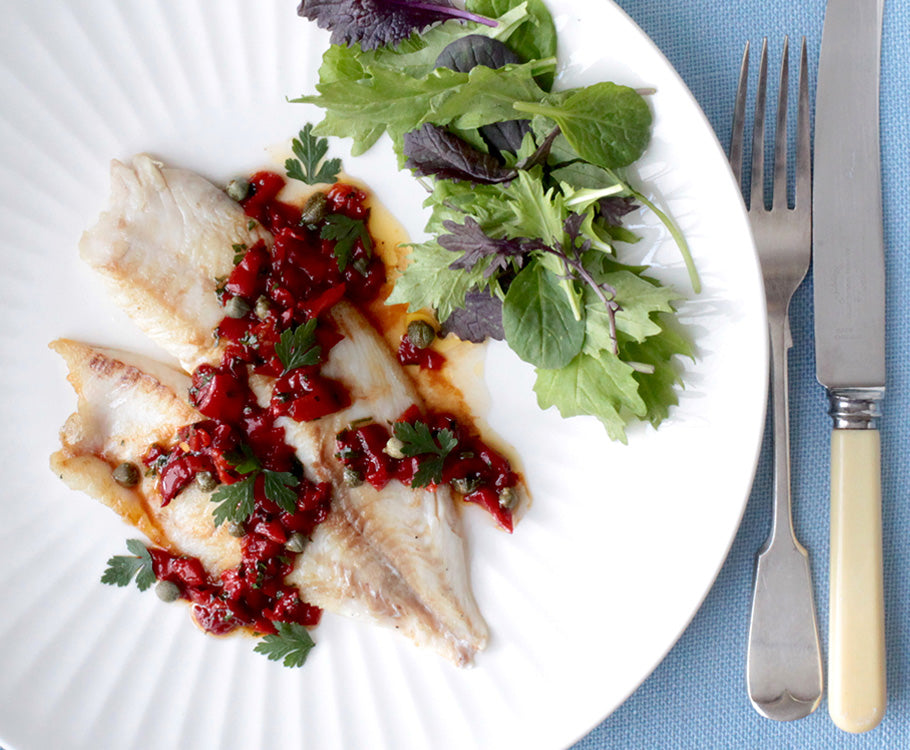 Sabato - Fish with Vermouth Vinegar Butter Sauce