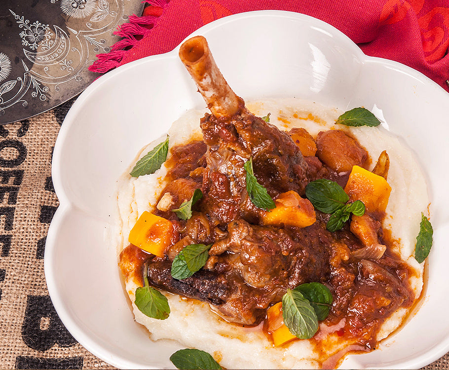 Sabato - Moroccan Lamb Shanks with White Polenta