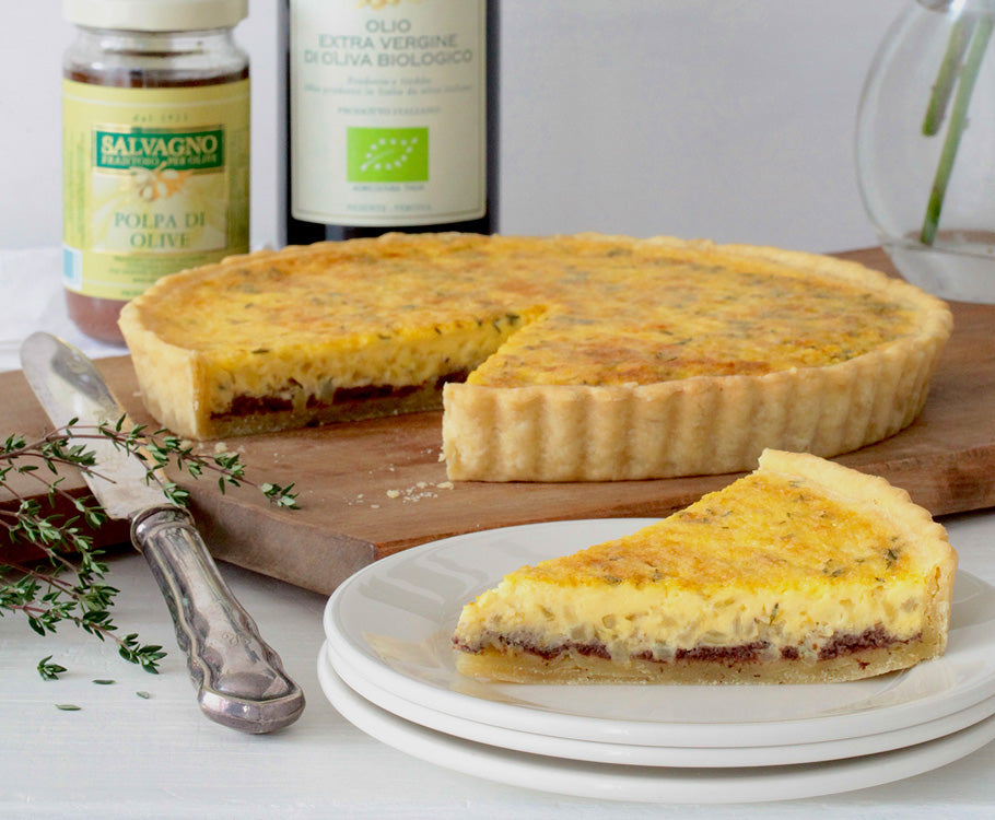 Sabato - Olive, Onion, Parmigiano Tart with Olive Oil Pastry