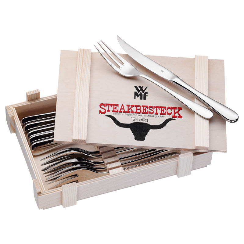 WMF Steak Set in Wooden Box