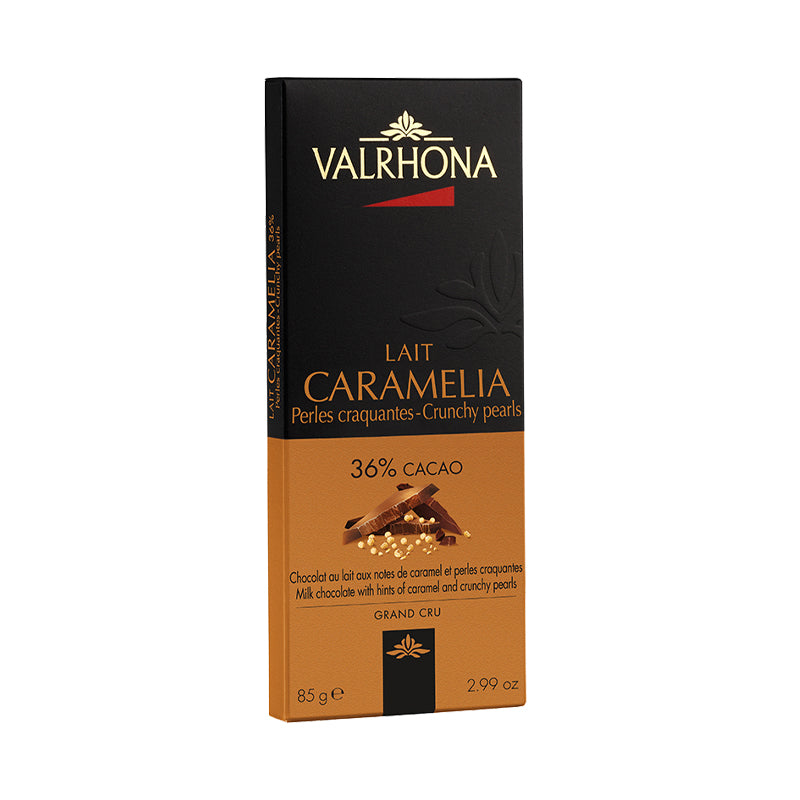 Valrhona Caramélia Crunchy Pearls Chocolate Tablet