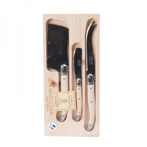 Load image into Gallery viewer, Laguiole Cheese Knife Set Wooden Box 3pc