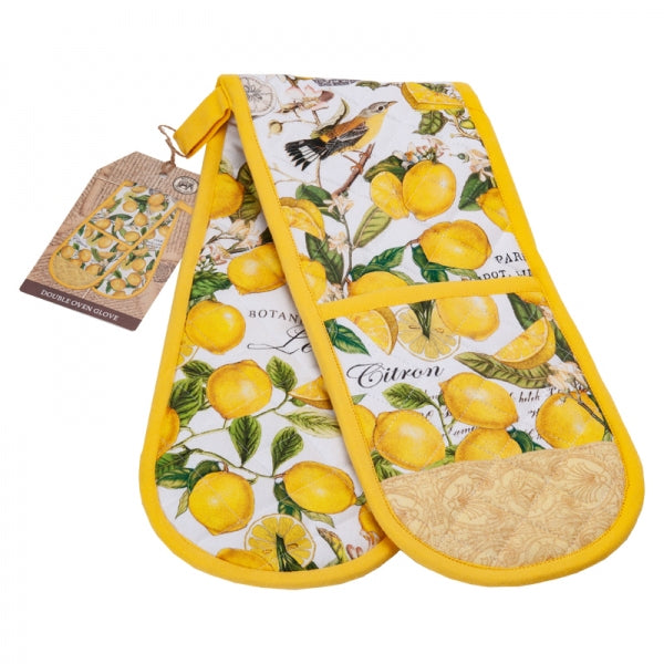 Michel Design Works Double Oven Glove ~ Lemon & Basil