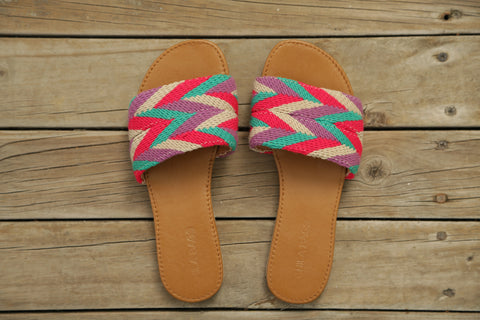 Tere Pompons Sandals Straight