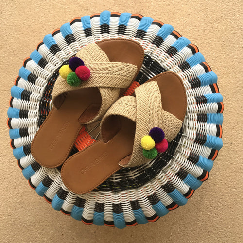 Tere Pompons Sandals Cross