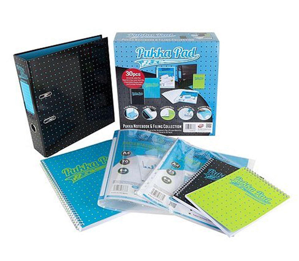 30 Piece Pukka Pad Notebook & Filing Collection - Blue