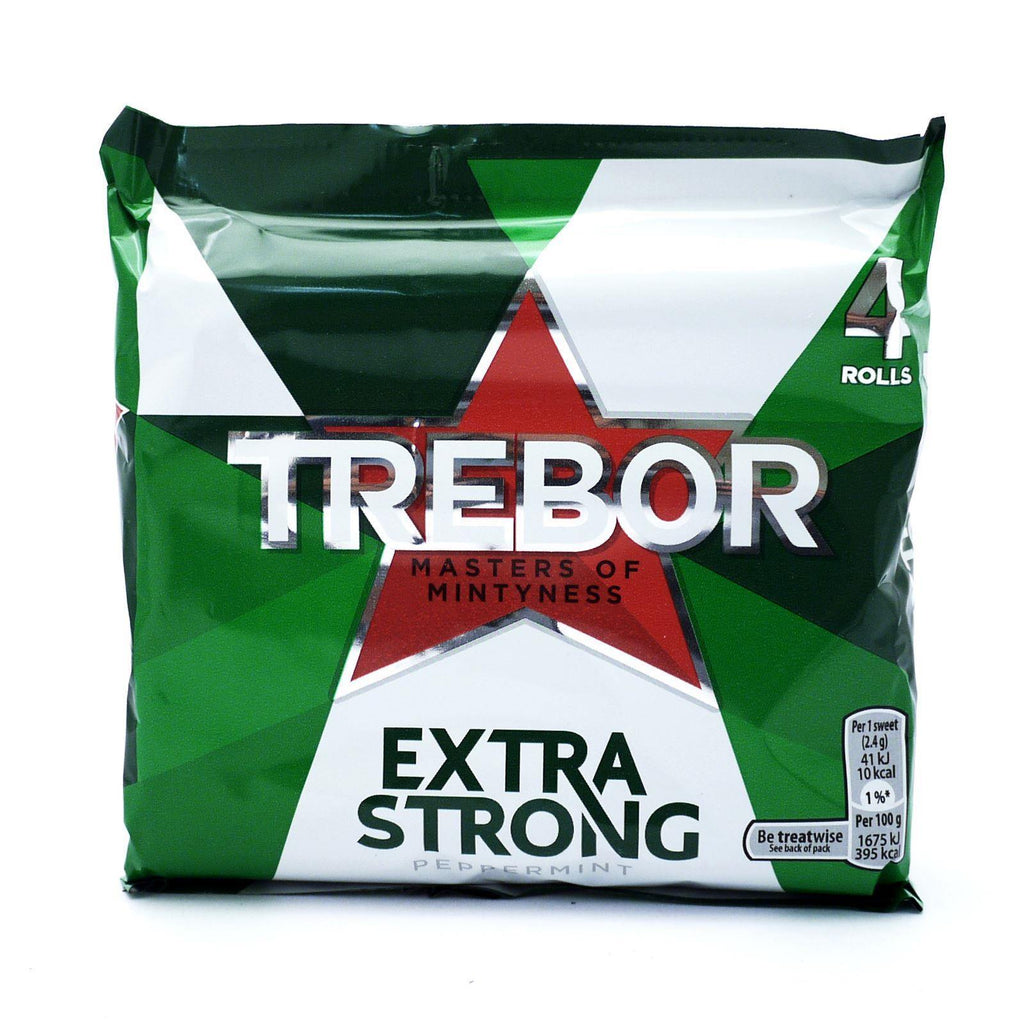 Trebor Extra Strong Mints 165.2g (12 Packs of 4, Total 48)