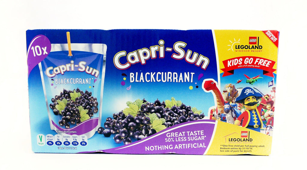 Capri-Sun Blackcurrant 200ml (4 Packs of 10, Total 40)