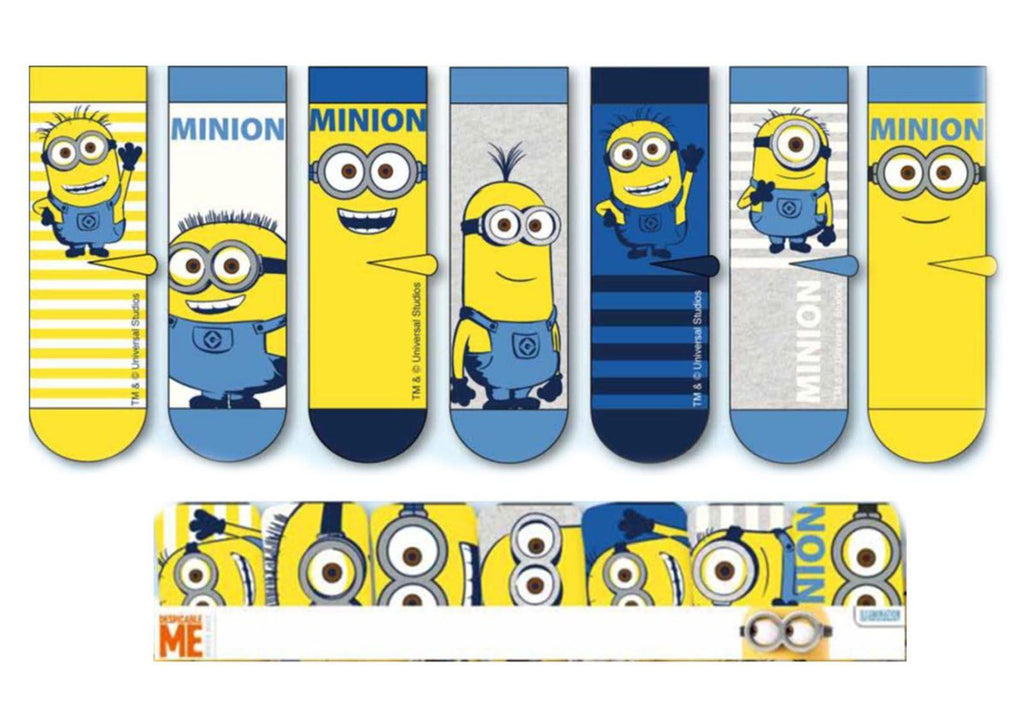 Official Minions Pack of 7 Socks in Presentation Case - Size 6-8
