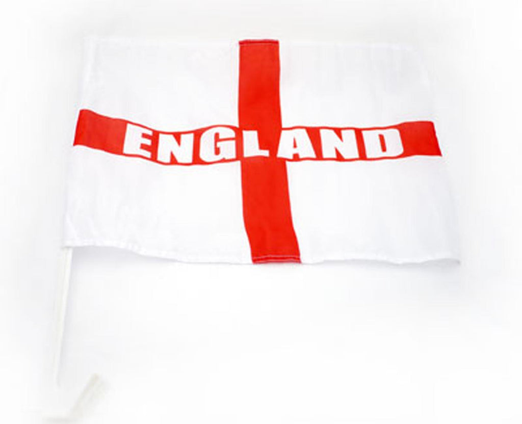 England Car Flags - 2 Pack