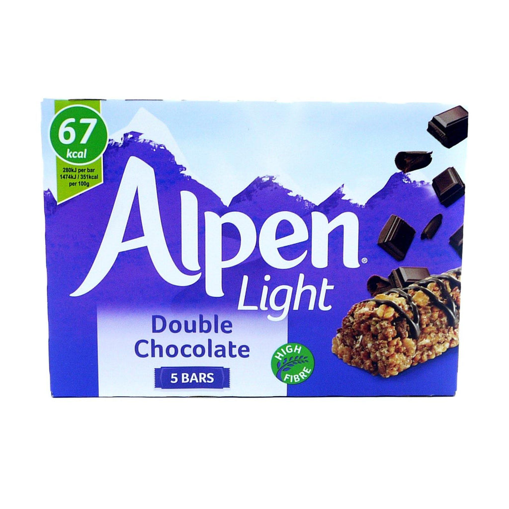 Alpen Light Double Chocolate 95g (10 Packs of 5, Total 50)