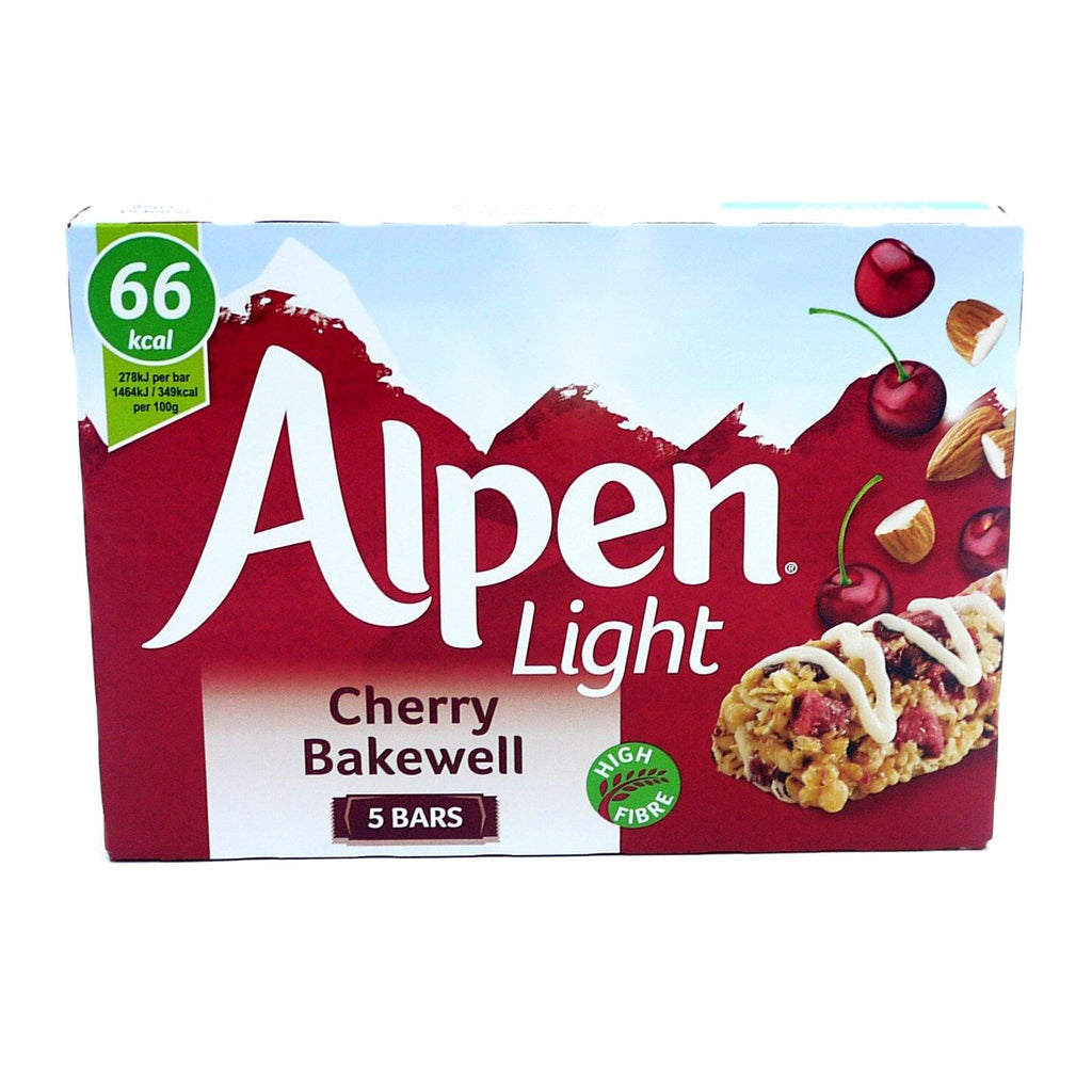 Alpen Light Cherry Bakewell 95g (10 Packs of 5, Total 50)