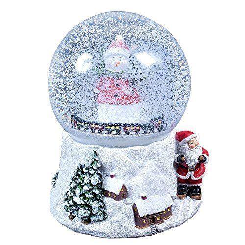 Musical Polyresin Christmas Snow Globe 15cm