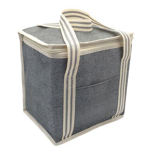 Large Cooler Bag 12 Litre - Grey Stripes