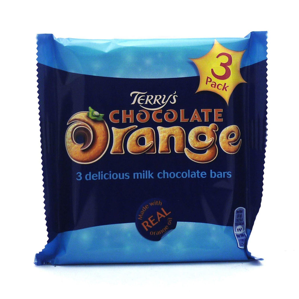 Terry's Chocolate Orange Bars 105g (16 Packs of 3, Total 48)