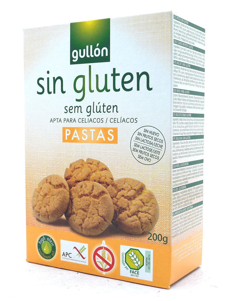 Gullon Gluten Free & Dairy Free Plain Cookies 200g (Box of 12)