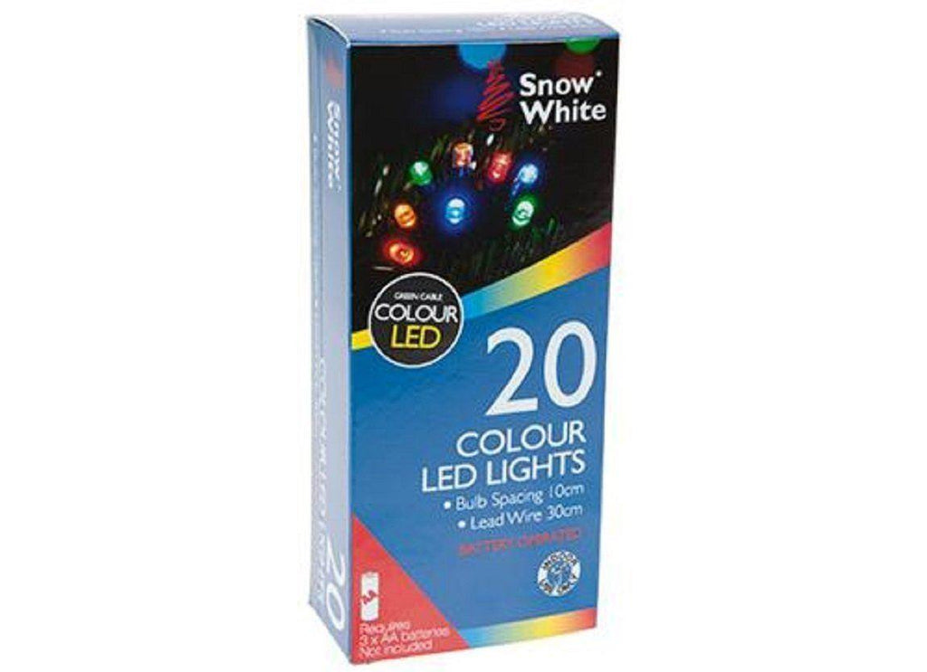 Christmas Multi-coloured 20 LED String Lights