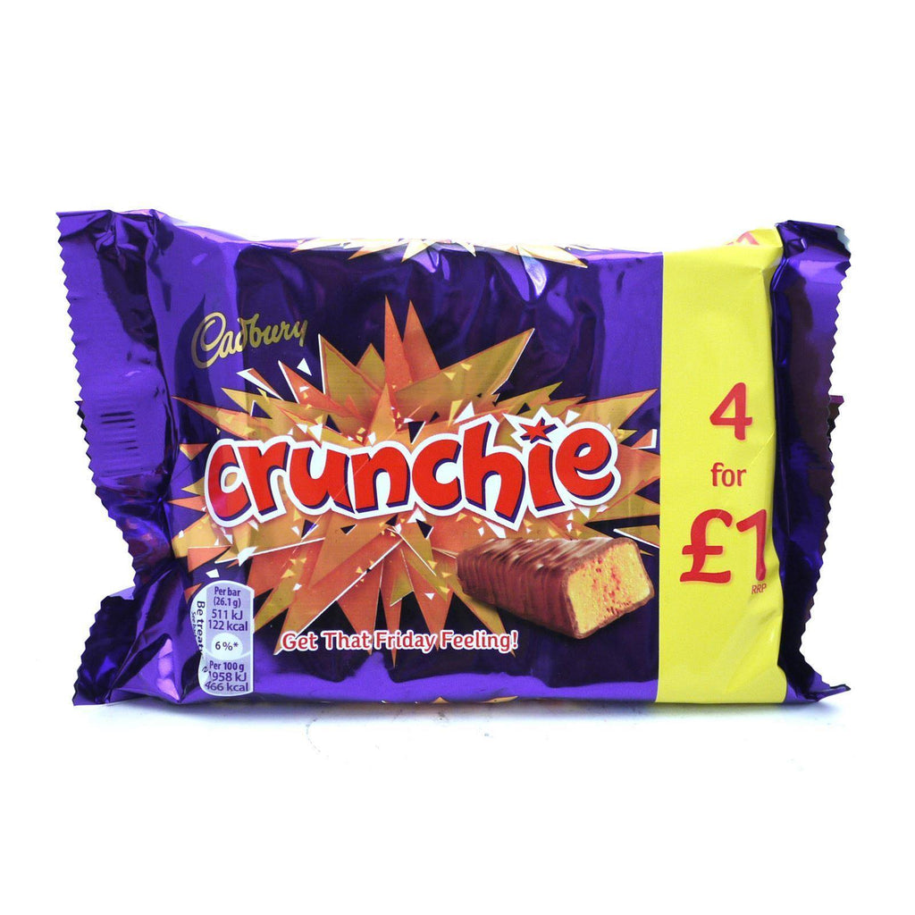Cadbury Crunchie 104g (10 Packs of 4, Total 40)