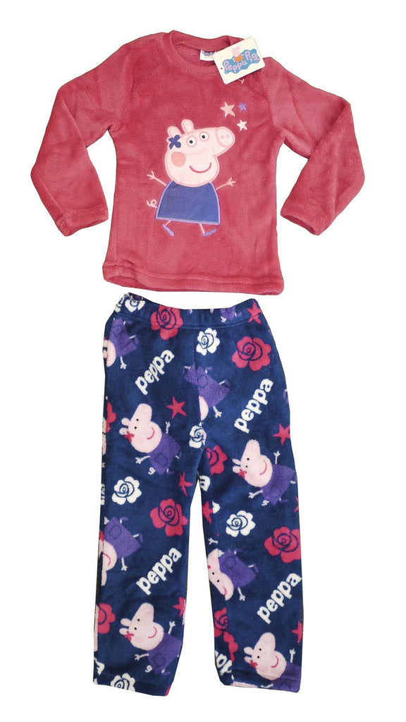 Peppa Pig Fleecey 2pc Pyjamas Blue Bottoms - 6-7 Years