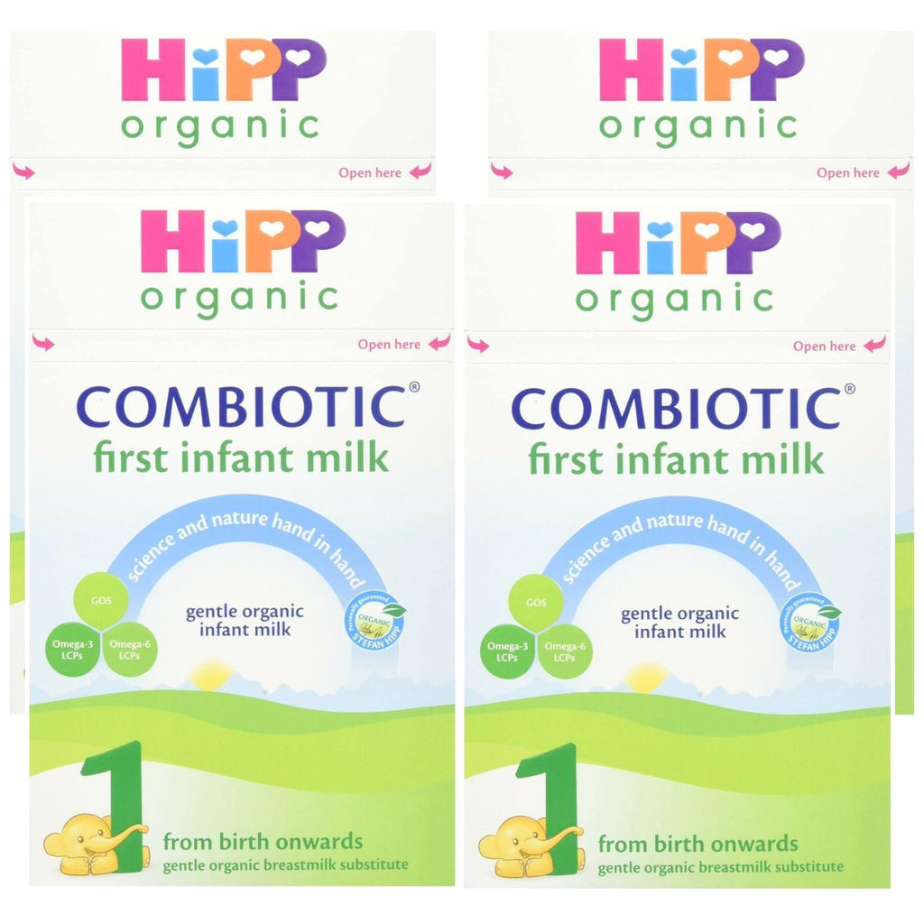 HiPP Organic 1 First Infant Baby Combiotic Milk Powder from Birth (Case of 4 x 800g boxes)