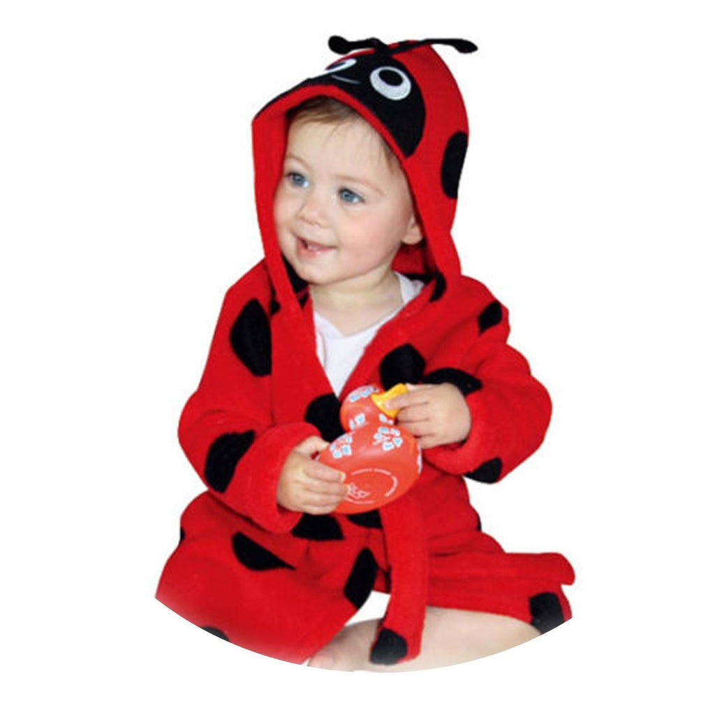 Ladybird Fleece Bathrobe - 9-12 Months