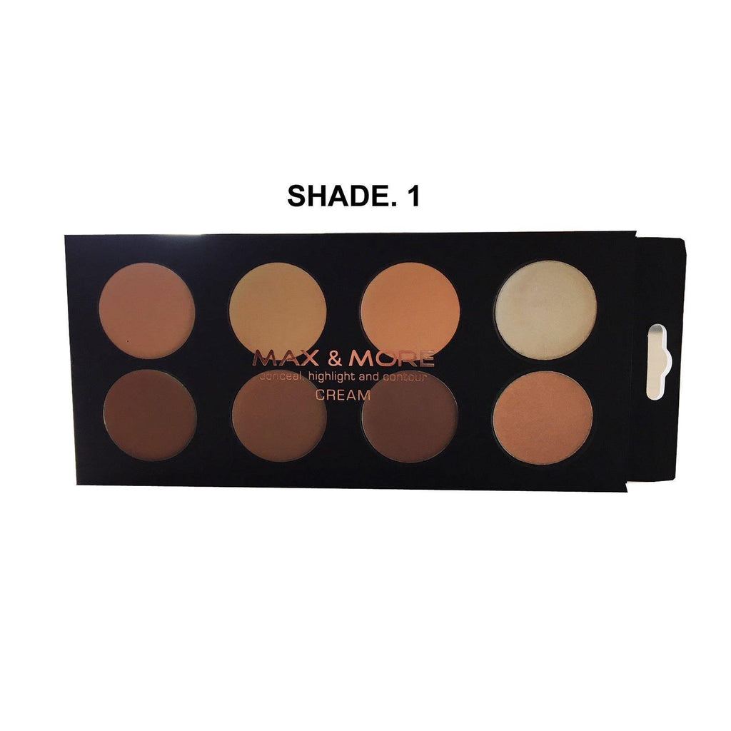 Max & More Concealer, Highlighter & Contour Make Up Palette