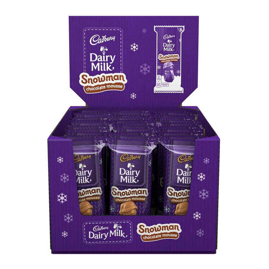Cadbury Chocolate Mousse Snowman (Box of 33)