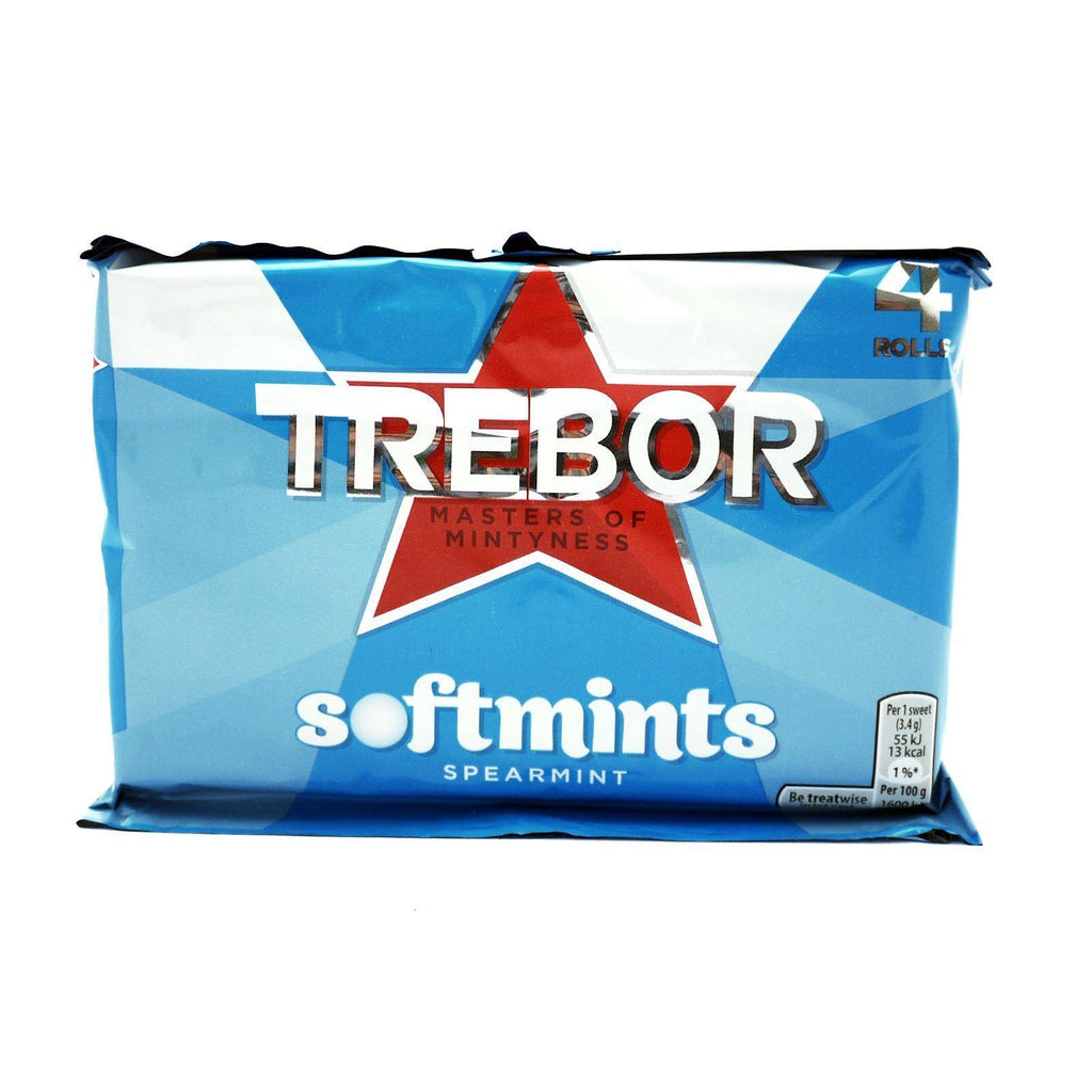 Trebor Softmints Spearmint 179.6g (18 Packs of 4, Total 72)