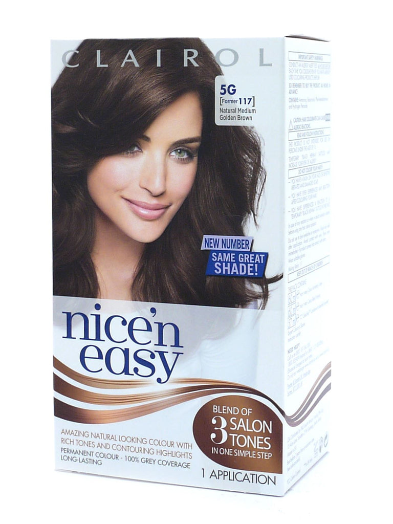Nice 'N' Easy Permanent Hair Colour 5G (117)  Natural Medium Golden Brown