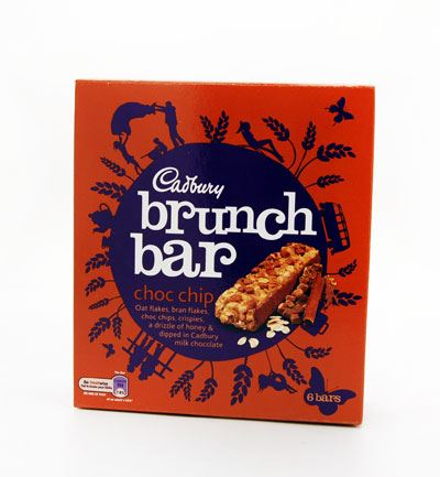 Cadbury Brunch Chocolate Chip Bar (6 Packs of 6, Total 36)