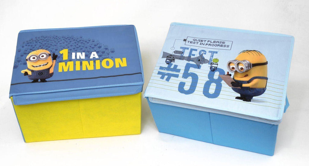 Pair of Despicable Me Minion Toy Storage Boxes