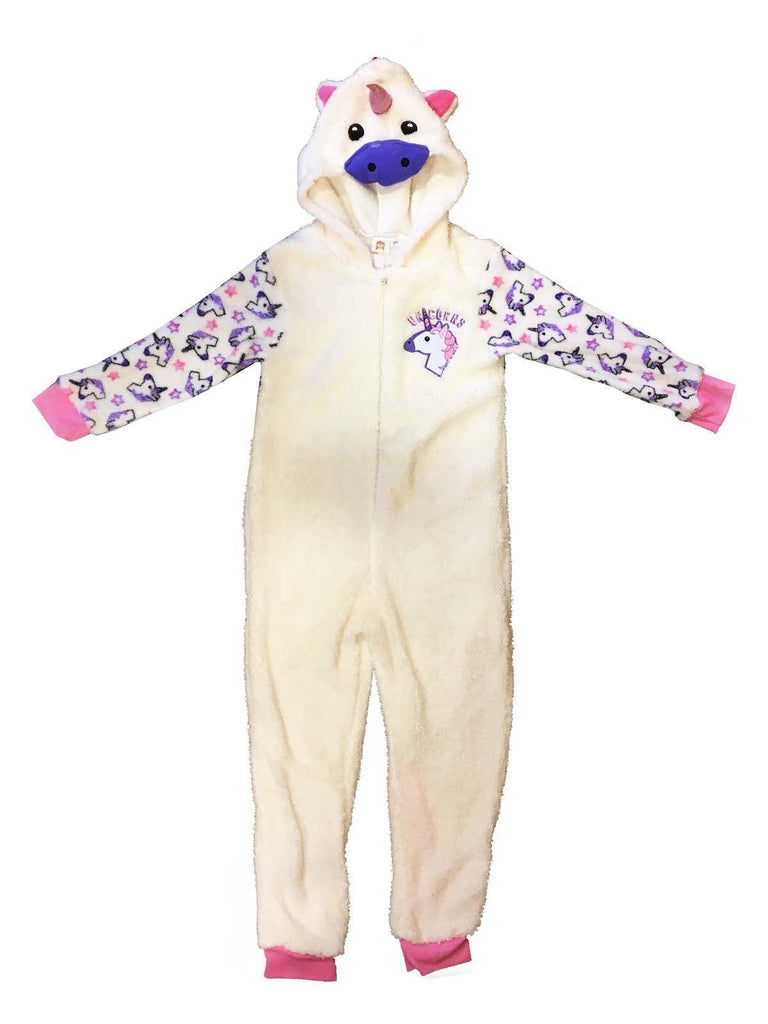 Unicorn Fleece Girls One Piece Dress-up Fancy Dress Sleepsuit All in One Pyjamas, 2-3 years