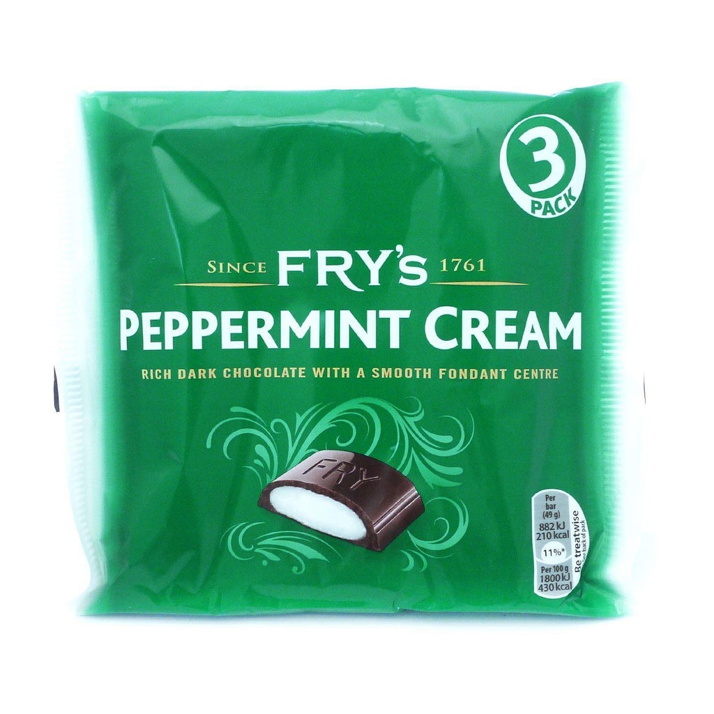 Frys Dark Chocolate With Peppermint Cream Centre 49g (18 Packs of 3, Total 54)