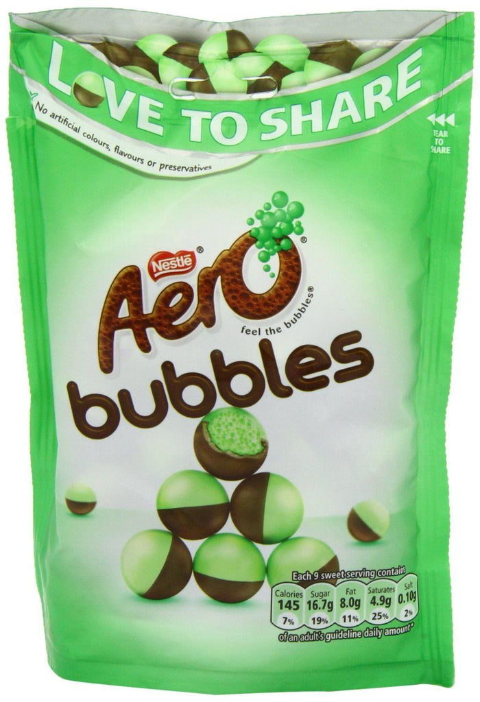 Nestle Aero Bubbles Peppermint Chocolate Sharing Bag 113g (Box of 12)