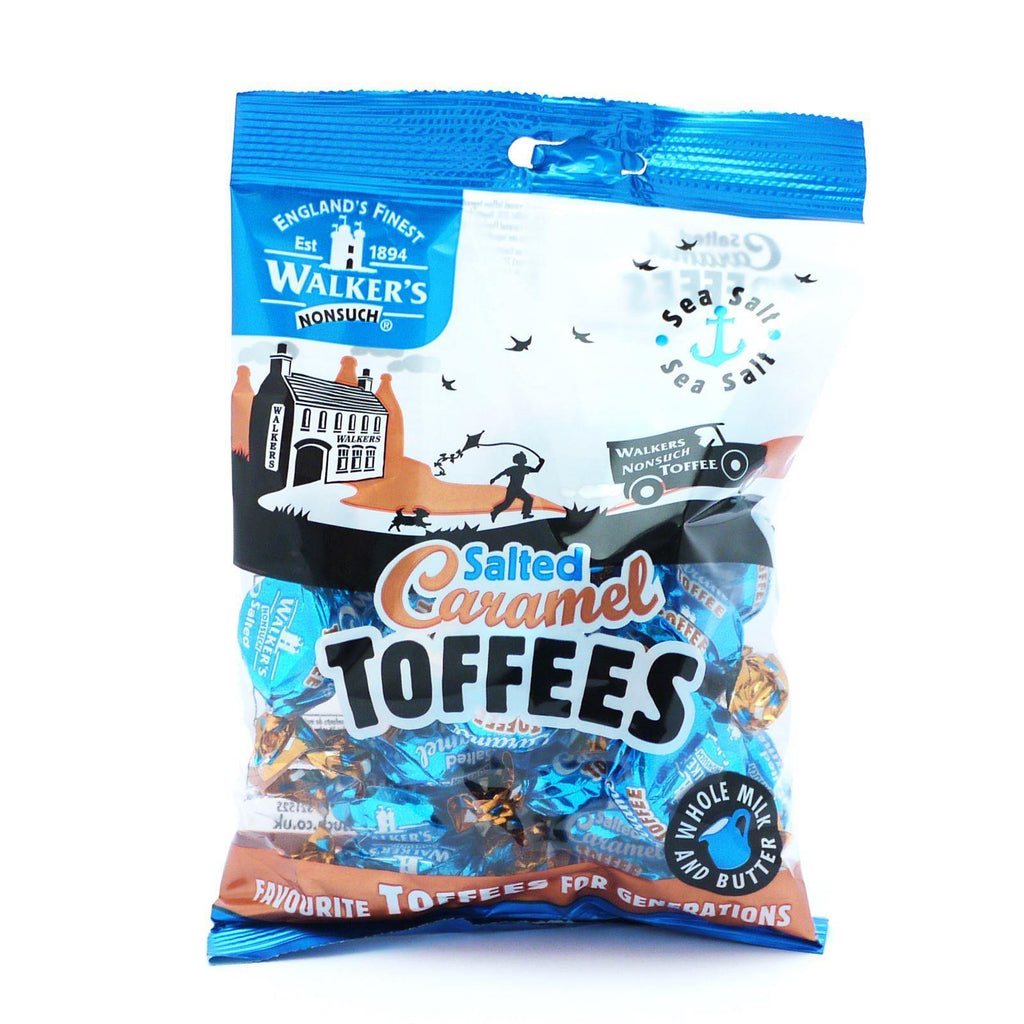 Walkers Salted Caramel Toffees 150g (Box of 12)
