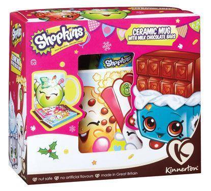 Shopkins Ceramic Mug with Milk Chocolate Bars Gift Set