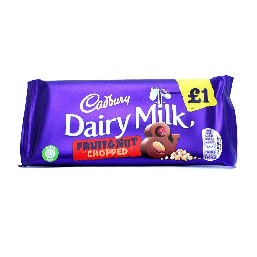 Cadbury Fruit & Nut 95g (Box of 22)