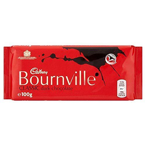 Cadbury Bournville Classic Dark Chocolate Bar 100g (Box of 18)