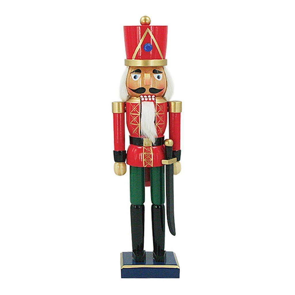 Traditional Christmas Wooden Nutcracker On Stand  35.5cm