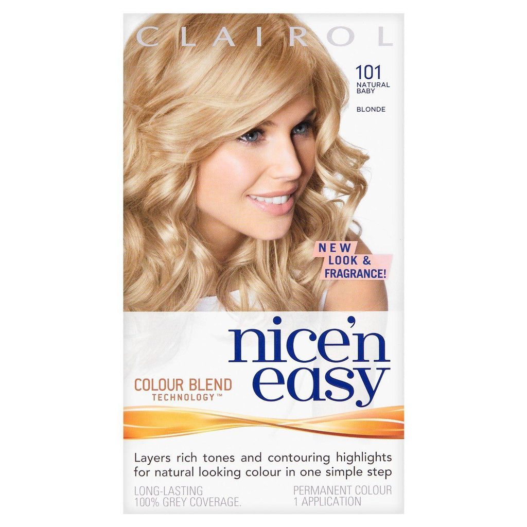 Clairol Nice 'n Easy Permanent Hair Colour - 101 Natural Baby Blonde