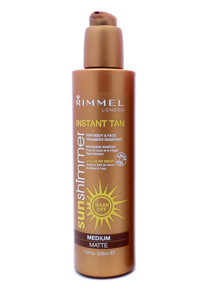 Rimmel Sunshimmer Wash Off Instant Tan Pump 225ml - Medium Matte