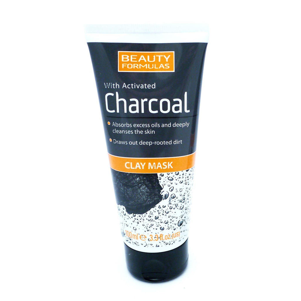 Beauty Formulas Charcoal Clay Face Mask 100ml