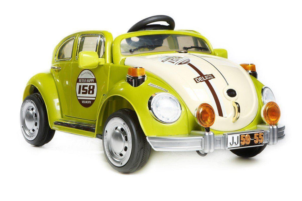 Kid's VW Beetle Style Ride On Car - Green