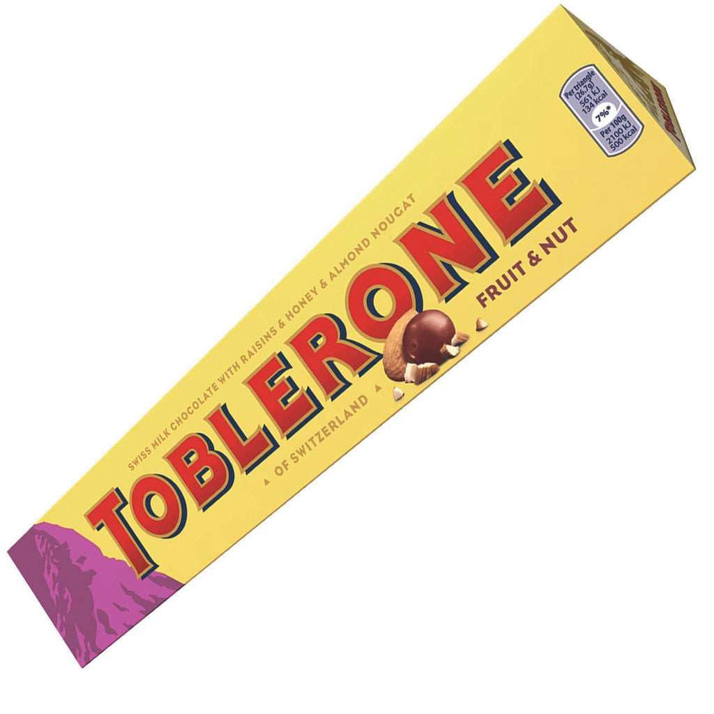 Toblerone Fruit & Nut Chocolate Bar 360g (Box of 10)