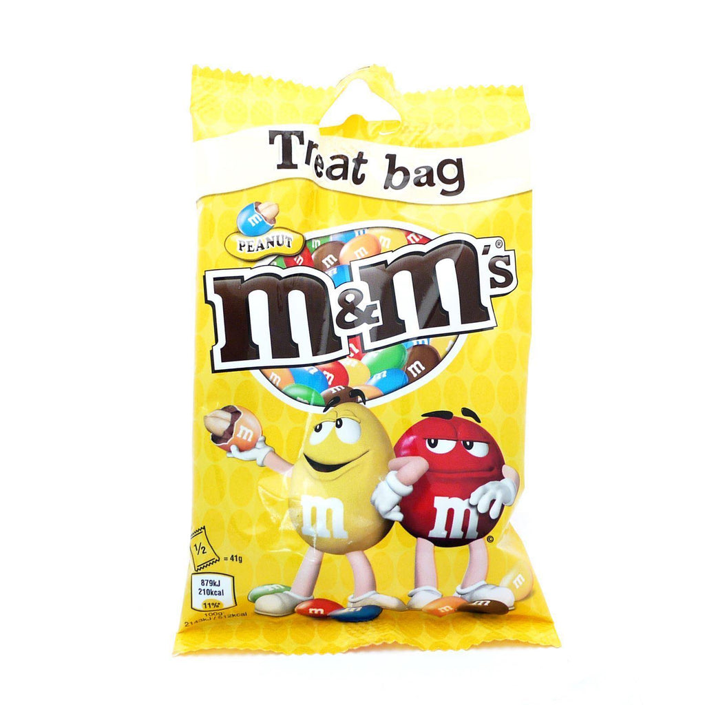 M&M Peanut Treat Bag 82g (Box of 16)