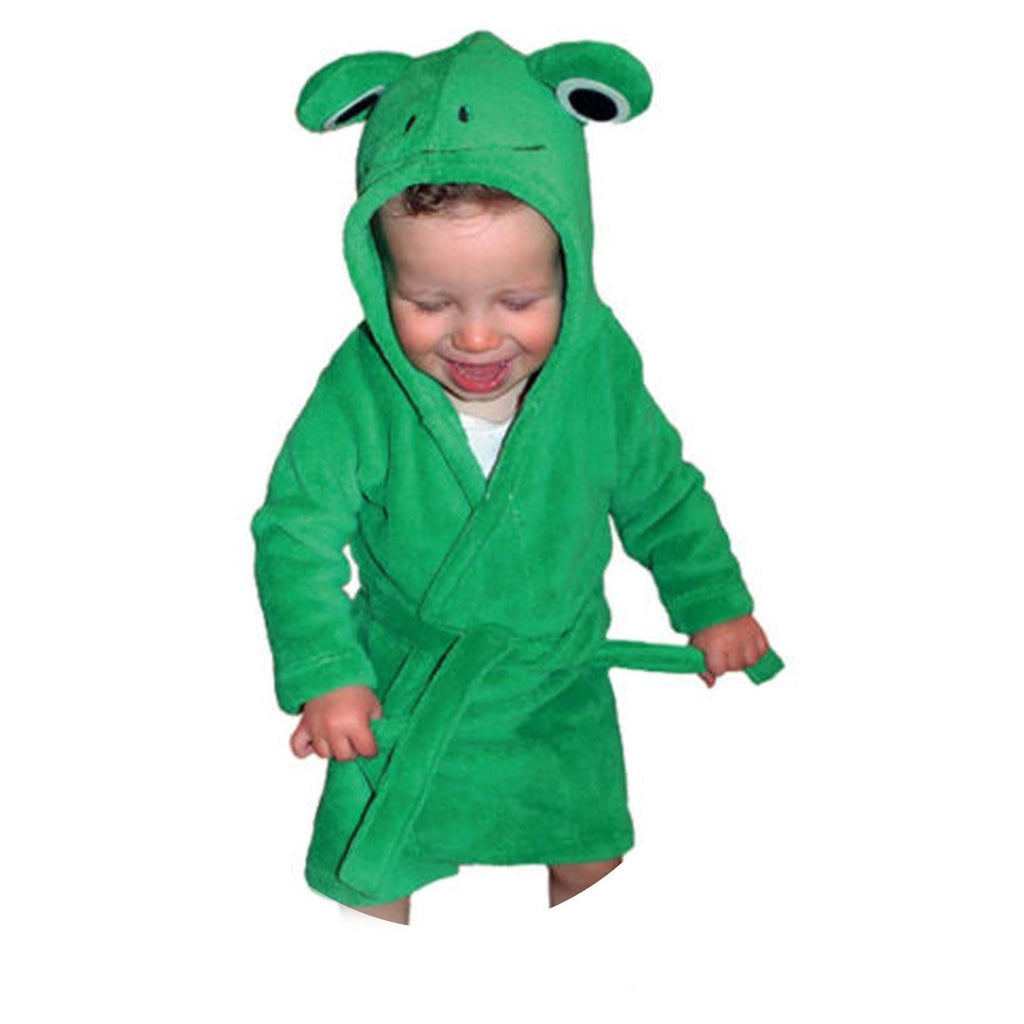 Frog Fleece Bathrobe - 9-12 Months