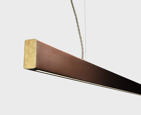 2x4 Leather Pendant - Small