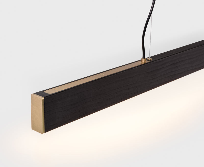 Long Wood Pendant Light | DSHOP