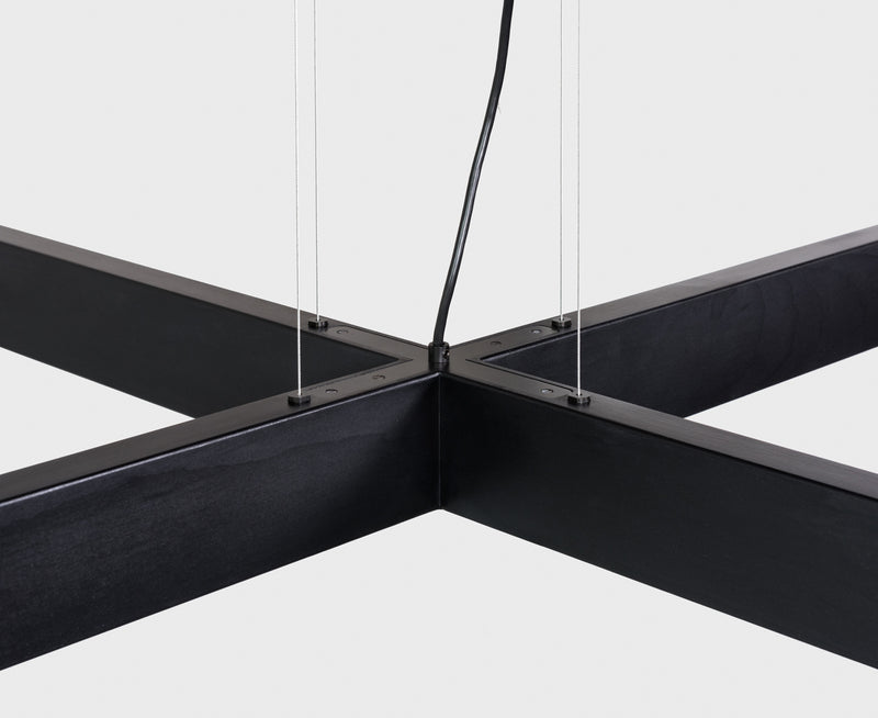 Black Wood 2x4 Pendant Light | DSHOP