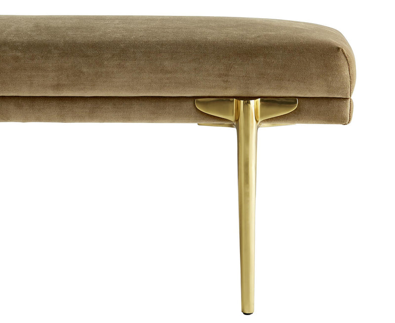 Art Deco Inspired Velvet Bench | DSHOP